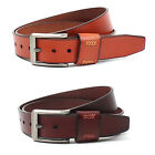Vintage Style Mens Belt Genuine Leather Metal Buckle Jeans Casual Mountian-ML002