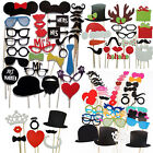 Cute DIY Booth Props Mustache Lip Crown Heart Stick Wedding Birthday Party Photo