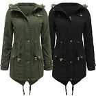 Brave Soul Womens/Ladies Parka Coat Fish Tail Grown Hood Jacket £19.99 Free Post
