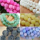"""Pretty Dream Fire Dragon Veins Agate Gems 7 Color 15"""" Loose Beads Strands 6-10mm"""