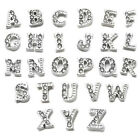 A-Z Crystal Initial Letter Floating Locket Charms for Glass Floating Lockets