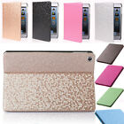 Luxury Bling Diamond PU Leather Smart Stander Case for ipad 2/3/4/5/6 air 2 mini