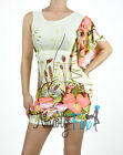 Sexy One Shoulder Beige Tropical Ruffle Mini Dress S-XL
