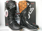 NEW WIND W2 ENDURO MOTOCROSS BOOTS BLACK LEATHER (ALL SIZES) MX CR KX RM YZ SX