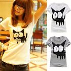 Fashion Womens Blouse Casual Short Sleeve Blouse Shirt T-shirt Summer Tops Tee
