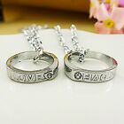 A Pair Nice South Korean Ture LOVE Necklace Pendants For Sweethearts