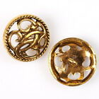 20/100pcs 161553 Charms NEW Vintage Golden Alloy Hollow Flowers Sew-on Buttonss