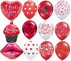 Happy Valentines Day Sparkles Hearts I Love You Rose Qualatex Latex Balloon Gift