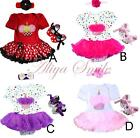 3PCS Baby Girls Cake Romper Tutu Dress Party Birthday Gift Outfits Costume 6-18M