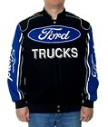 Ford Trucks Jacket Built Ford Tough Jacket Adult Twill Black Blue NEW
