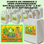 "Plants vs Zombies 2 Gift Bag Label 3.75"" x 4.5"" DIY Stickers Personalized 12 pcs"