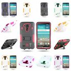 For LG G3 (2014)Dual Layer Skin Hard Hybrid Stand Tough Protective  Cover Case
