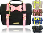 Womens LYDC Briefcase Stud Bow Girl Tote Bag Ladies Anna Smith Satchel Handbag