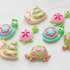 8pcs Snails Tortoise Slow Speedy Cartoon  Resin Flatback Craft Scrapbooking Lots