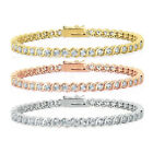 Dolce Giavonna Gold Or Silver Overlay Cubic Zirconia Tennis Style Bracelet in Re