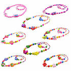 1Set Girl's Wooden Flower Heart Animals Beads Necklace Bracelet Kid Jewelry Set