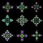 Anemone Quilt Squares 7 Machine Embroidery Designs-Anemone Embroidery Designs
