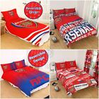 ARSENAL FC SINGLE AND DOUBLE DUVET COVER SETS BEDROOM BEDDING FOOTBALL