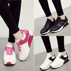 Women New Color Block Lace-up Casual Sports Running Shoes Platform Flat Sneaker