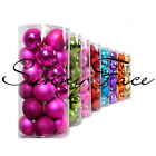 24 x NEW Round Christmas Balls Baubles Xmas Tree Decorations Christmas Ornament