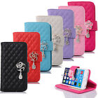 Rhinestone Bling Flip Wallet Leather Case Cover For iPhone 6 4.7 Inch T16C