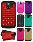 AT&T ZTE Compel Z830 HYBRID IMPACT Dazzling Diamond Case Phone Cover Accessory