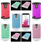 Protective Diamond Bling Dual Layer Hybrid Phone Cover Case for LG G3 Vigor