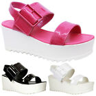 Dolcis Ladies Womens Wedge Gladiator Chunky Sandals Platform Flatform Shoes Size
