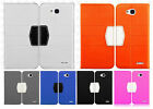 LG Optimus Exceed 2 VS450 Leather 2 Tone Wallet Pouch Flip Cover + Screen Guard