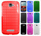 Alcatel OneTouch Pop Icon TPU CANDY Gel Flexi Skin Case Plaid + Screen Protector