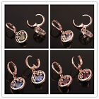 Swell Girls 14K Rose Gold Filled Round Cut In 4 Colors Zircon Dangle Earrings