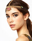 Boho Crystal Wedding Headdress Headband Alice Head Band Chain Headpiece Elastic
