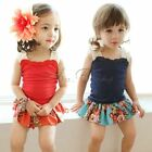 Kids Baby Girls T shirt &Skirt TUTU party dress girls Floral Outfits & Sets 4-7