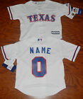Texas Rangers Cool Base MLB Majestic Kids 4/7   Replica Jersey add name number