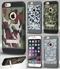 For Apple iPhone 6 6S Plus Tuff Trooper HYBRID KICKSTAND Cover + Screen Guard