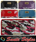 Ladies LYDC Designer Patent Glossy Purse Women Sequined Evening Hand Bag Wallet