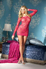 New Sheer Stretch Lace Dress Body Hugging High Quality S-M-L USA Seller