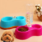 New Plastic Pet Dog Puppy Cat Automatic Water Dispenser Food Dish Bowl Feeder