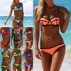 Latest Sexy Womens Waterproof Neoprene Triangle Bikini Set Swimsuit Swimwear