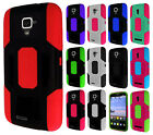 For ZTE Rapido Z932C Robust Slim HYBRID Rubber Case Phone Cover +Screen Guard
