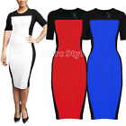 Kattee Womens Ladies Bodycon Fitted Formal Party Pencil Dress 3 Colors S-XL