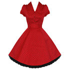 Ladies New Red Polka Dot Vtg 50s Retro Pinup Rockabilly Party Prom Swing Dress