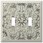 Arabesque Filigree Antique White Switch Plate Outlet Cover Wall Switch Plates