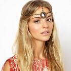 Boho Rhinestone Wreath Crown Wedding Headdress Headband Alice Head Band Chain