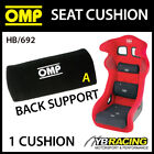 HB/692 OMP RACING SEAT BACK SUPPORT CUSHION (SMALL) REMOVABLE - 3 COLOURS!