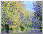 Claude Monet Stretched Art A Bend in the Epte River, near Giverny Repro Print