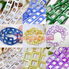 HOT 20mm Hollow Square Mother Of Pearl Shell MOP Loose Beads Jewelry DIY Gift FB
