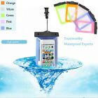 Clear Universal PVC Waterproof Dry Pouch Bag Case For iphone samsung Huawei HTC