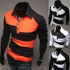 New Fashion Men's Slim Fit Casual Polo Shirt T-Shirt Long Sleeve T Shirts