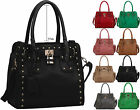 New Ladies Celebrity Studs Women Shoulder Bag Fashion Tote Hobo Satchel Handbag